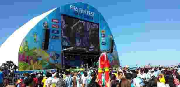 Telão em Fan Fest de Copacabana foi point na Copa do Mundo de 2014 - Vinícius Castro/UOL