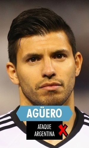 Agüero - Prejudicado por lesão que o deixou de fora de boa parte da Copa, mas enquanto esteve em campo nada fez, nem gol