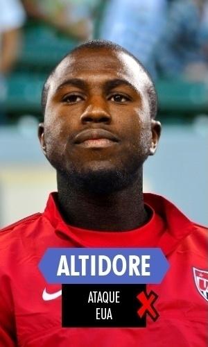 Altidore - O atacante americano foi titular na estreia, mas se contundiu com poucos minutos em campo