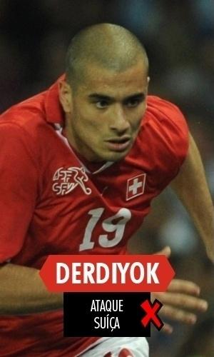 Derdiyok - O suíço acabou cortado antes mesmo da Copa começar, ficando apenas na lista de reservas. Se a geração ofensiva da Suíça foi o ponto forte da equipe, Derdiyok ficou para trás