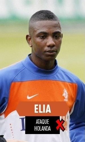 Elia - O atacante holandês fez boa Copa em 2010, sendo o principal reserva de sua seleção. Quatro anos depois, nem cotado para ir à Copa foi, tamanha sua decadência