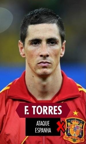 Fernando Torres - O atacante espanhol continuou sua decadência dos últimos quatro anos na Copa