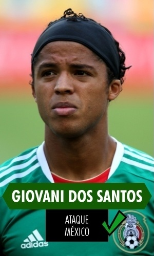 Giovani dos Santos - Fez gol contra a Holanda, que quase levou o México para as quartas, e teve dois erroneamente anulados contra Camarões; no geral, boa Copa