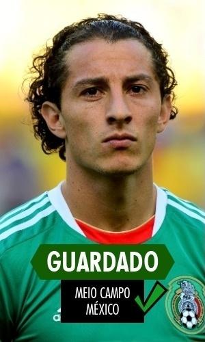 Guardado - O meia mexicano segue evoluindo e fez grande Copa. Seu talento garantiu a titularidade na campanha mexicana e não teve culpa na eliminação no finalzinho do jogo contra a Holanda