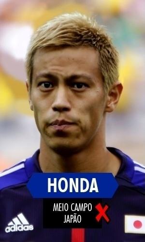 Honda - O melhor jogador japonês foi o símbolo de sua seleção: fraca, decepcionante
