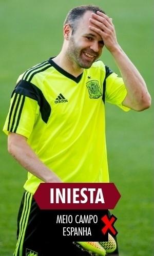 Iniesta - Foi mal na Copa, mas ainda é o grande nome espanhol para a renovação visando a Copa de 2018