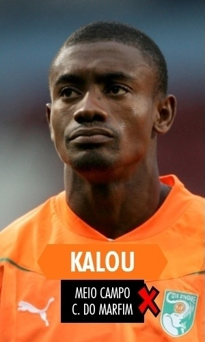 Kalou - Na Copa, mostrou porque está sumido no Lille-FRA: atuações fraquíssimas e reserva da Costa do Marfim
