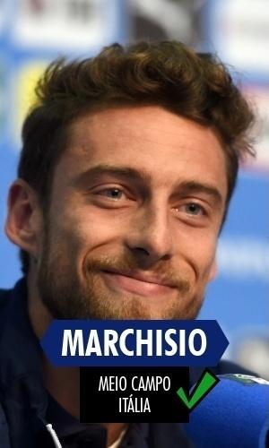Marchisio - O volante italiano acabou expulso na partida decisiva contra o Uruguai por entrada dura em rival, mas com a bola rolando foi um dos poucos a mostrar algum futebol pela Itália