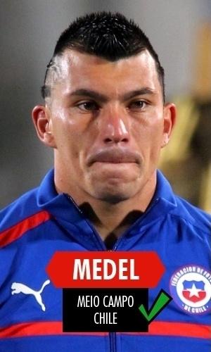 Medel - O defensor chileno segurou a Espanha e, mesmo sendo baixo (1,71 m) não comprometeu nas bolas aéreas, que era um fator no qual o Brasil se baseou para achar que teria vida fácil nas oitavas de final