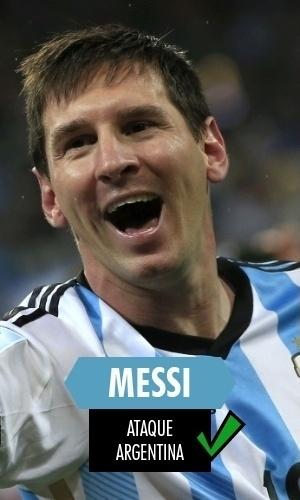 Messi - Eleito o melhor jogador da Copa, levou sua Argentina ao vice-Mundial. Podia ter sido mais, mas quem não gostaria de ter seu currículo?