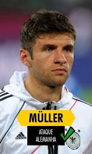 Müller - Cinco gols na Copa, título mundial e candidato a se tornar o maior artilheiro de toda a histórias das Copas. Müller é tudo e mais um pouco do que se esperava dele