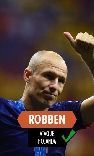 Robben - Para muitos, o melhor jogador da Copa; só não conseguiu fazer seu time passar das semifinais