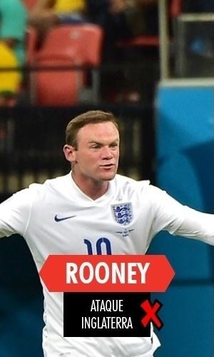 Rooney - Finalmente fez gol em Copa, mas caiu ainda na primeira fase com a Inglaterra