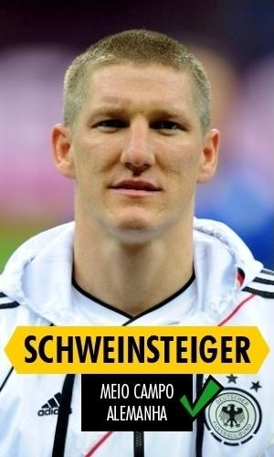 Schweinsteiger - Prejudicado por lesão, não mostrou todo seu futebol na Copa; mesmo assim, campeão como titular absoluto da Alemanha