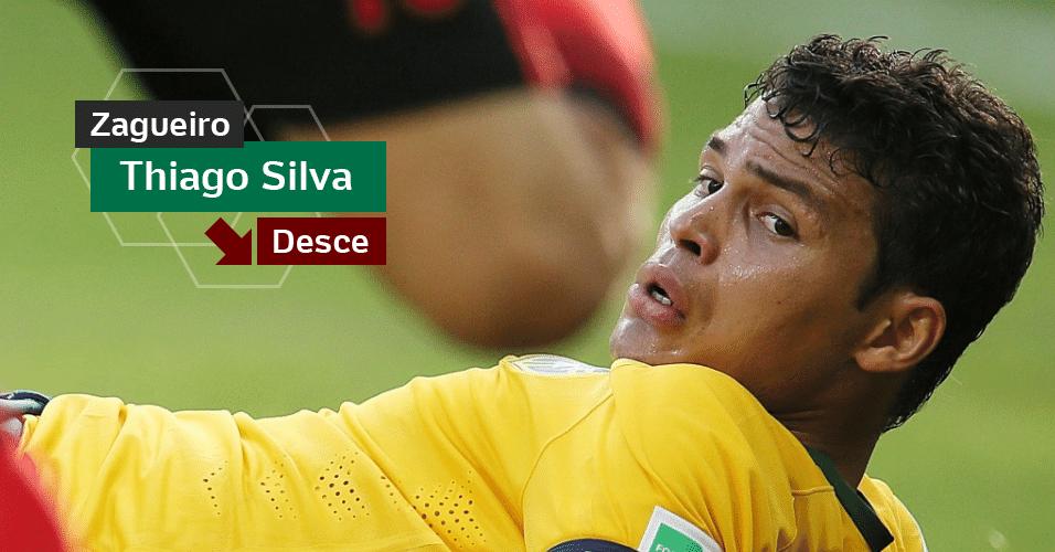 Thiago Silva - Mais do que as falhas técnicas, que teve principalmente na derrota para a Holanda, o descontrole emocional em campo manchou a Copa do capitão do Brasil. Chorou antes dos pênaltis e pediu para não chutar uma das cobranças. Estará com 34 anos na Copa da Rússia