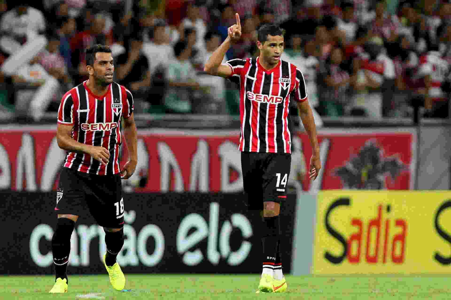 Alan Kardec comemora primeiro gol pelo São Paulo em jogo oficial - Felipe Oliveira/AGIF