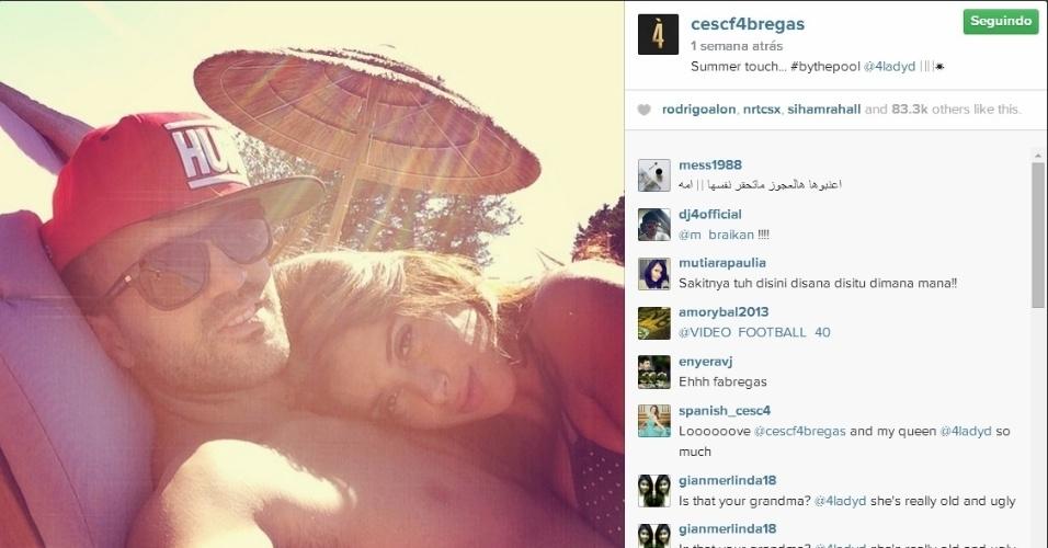 Fábregas curtiu suas férias acompanhado de Daniella Semaan, sua mulher