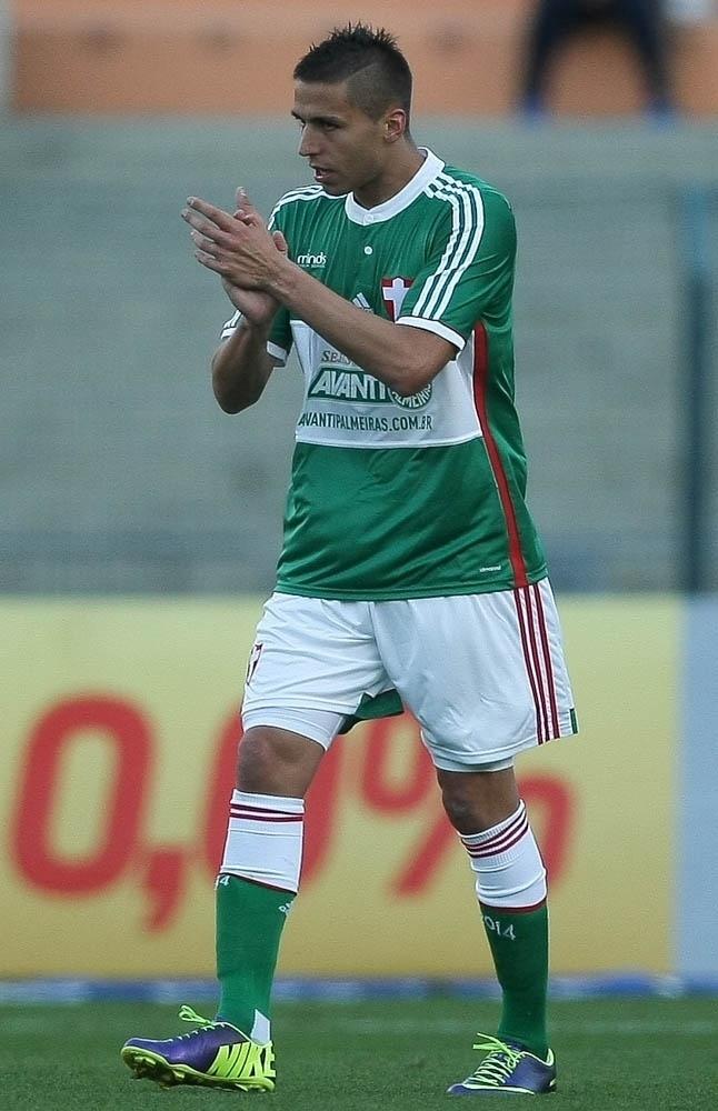 Fernando Tobio marcou o seu primeiro gol com a camisa do Palmeiras