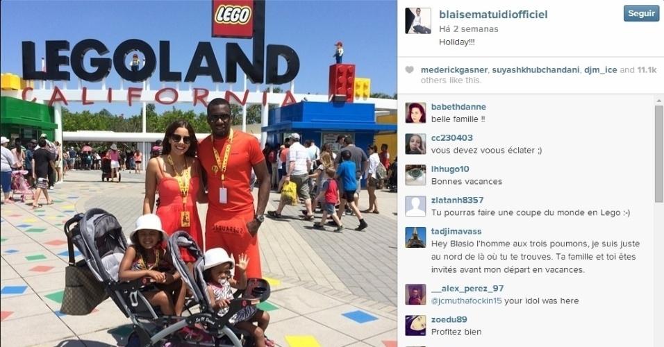 Blaise Matuidi foi com a família para a Califórnia e conheceu a 'Legolândia'