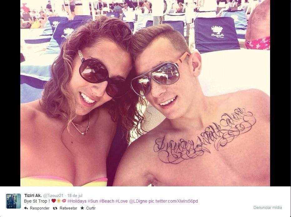 Lucas Digne fez uma viagem romântica para Saint-Tropez com a sua mulher e postou várias fotos nas redes sociais
