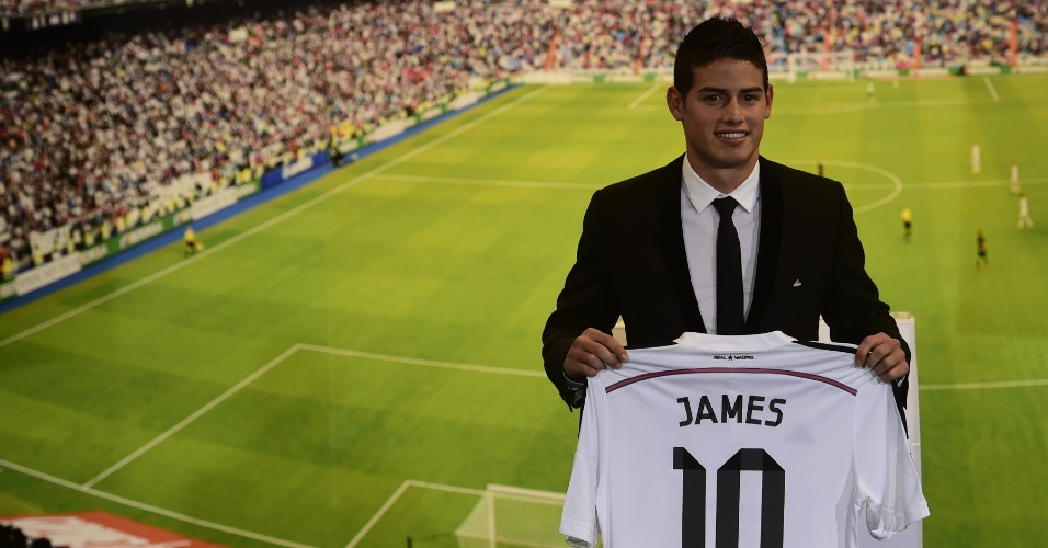 James Rodríguez é aprensentado como novo camisa 10 do Real Madrid
