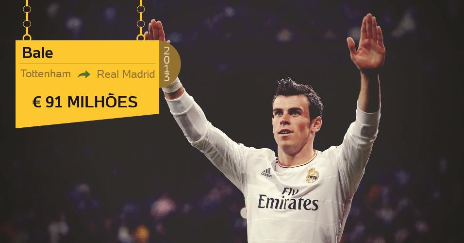 O jovem galês Gareth Bale chegou ao Real Madrid, do Tottenham, no ano passado com status e preço de estrela: 91 milhões de euros