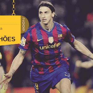 O sueco Zlatan Ibrahimovic saiu da Internazionale para o Barcelona em 2009 por 69,5 milhões de euros. - Arte/UOL