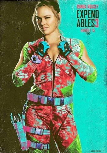 UFC revela um dos pôsteres do filme Mercenários 3, que tem a participação da campeã da categoria galo Ronda Rousey, em seu primeiro grande papel como atriz