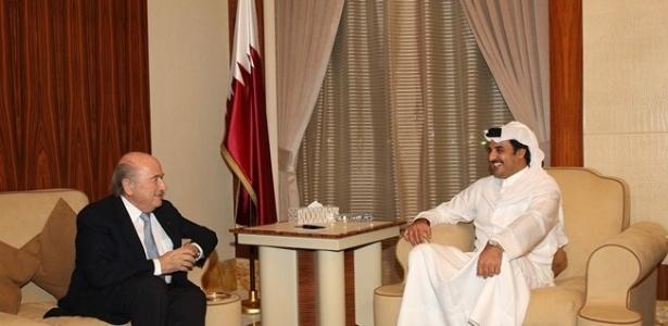 Em visita ao país,Blatter se encontrou com a maior autoridade do Qatar