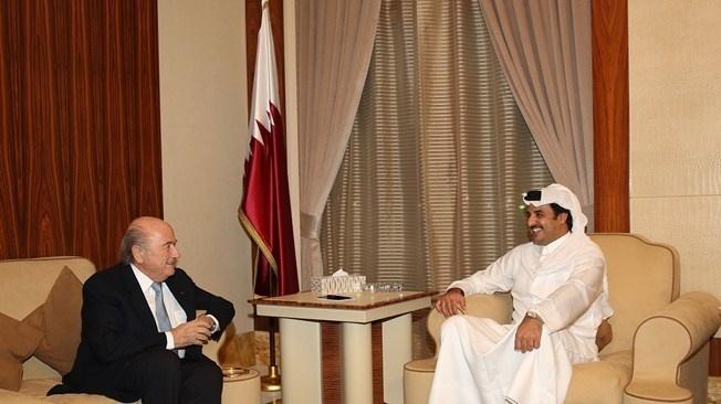 23. jul. 2014 - Joseph Blatter se encontra com emir do Qatar em visita ao país