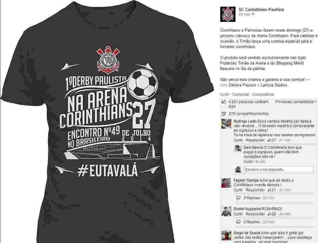 Fotos  Corinthians lança camisa para clássico contra o Palmeiras em ... 67554bd9f186b
