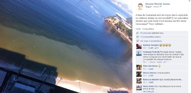 Bimba critica poluição na Baía da Guanabara, que irá receber provas de vela nos Jogos Olímpicos