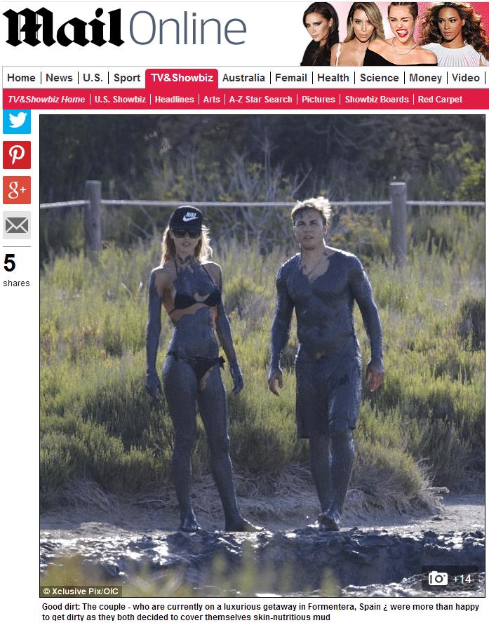 Herói alemão na Copa, Götze toma banho de lama com a namorada na Espanha