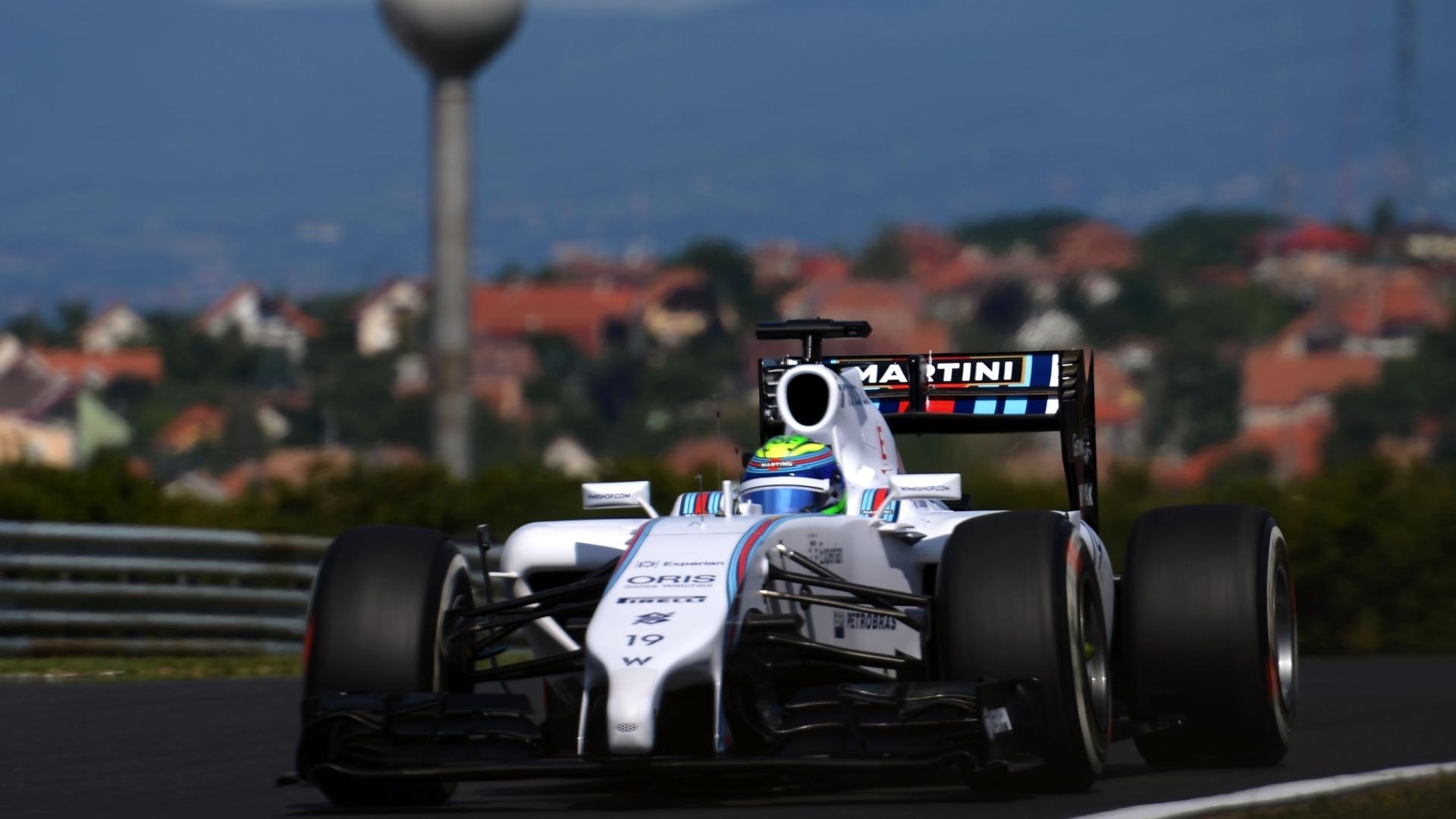 25.jul.2014 - Brasileiro Felipe participa da primeira sessão de treinos livres na Hungria e faz o décimo melhor tempo com a Williams