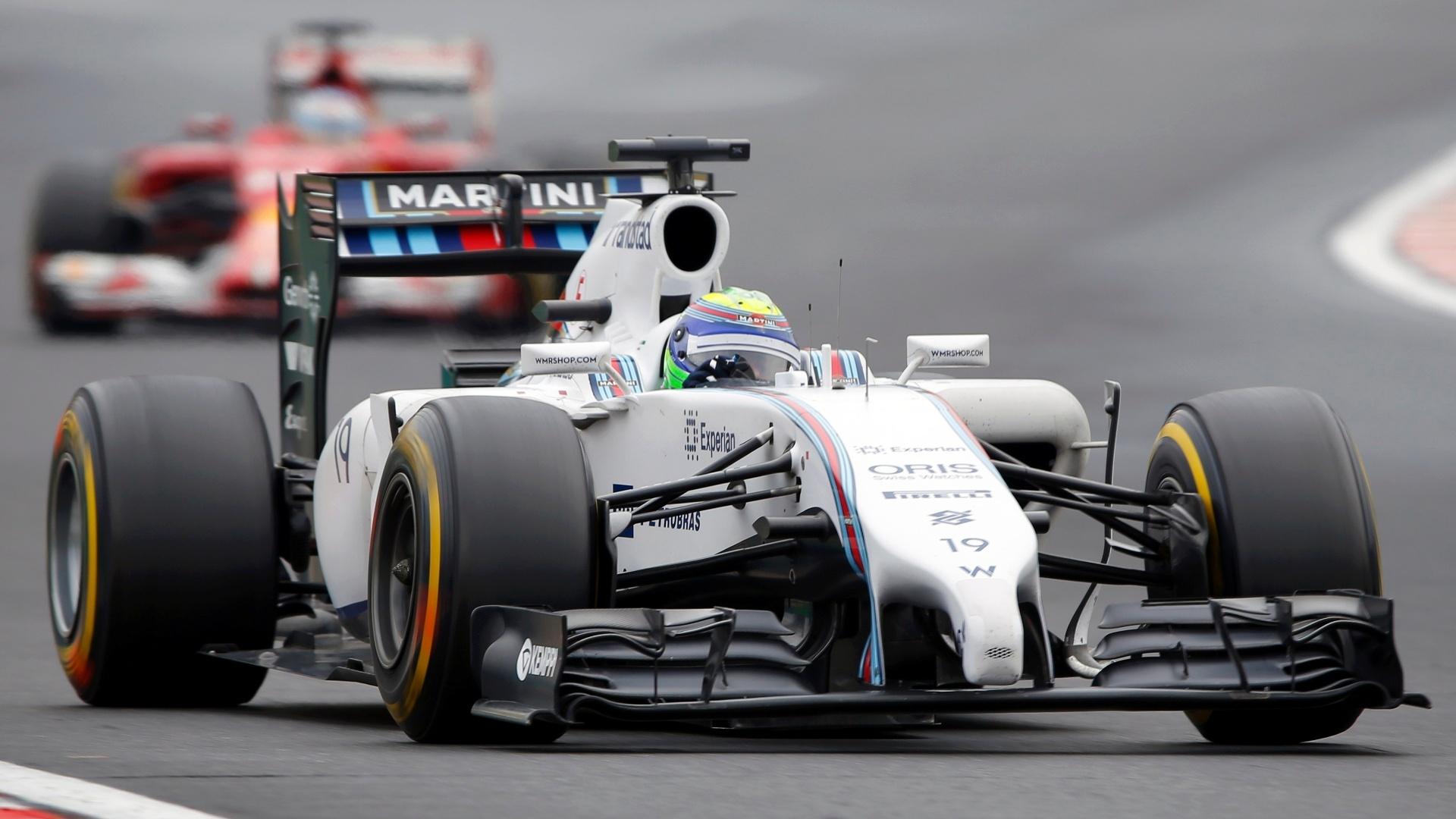 27.jul.2014 - Felipe Massa acelera sua Williams pelo circuito de Hungaroring durante o GP da Hungria