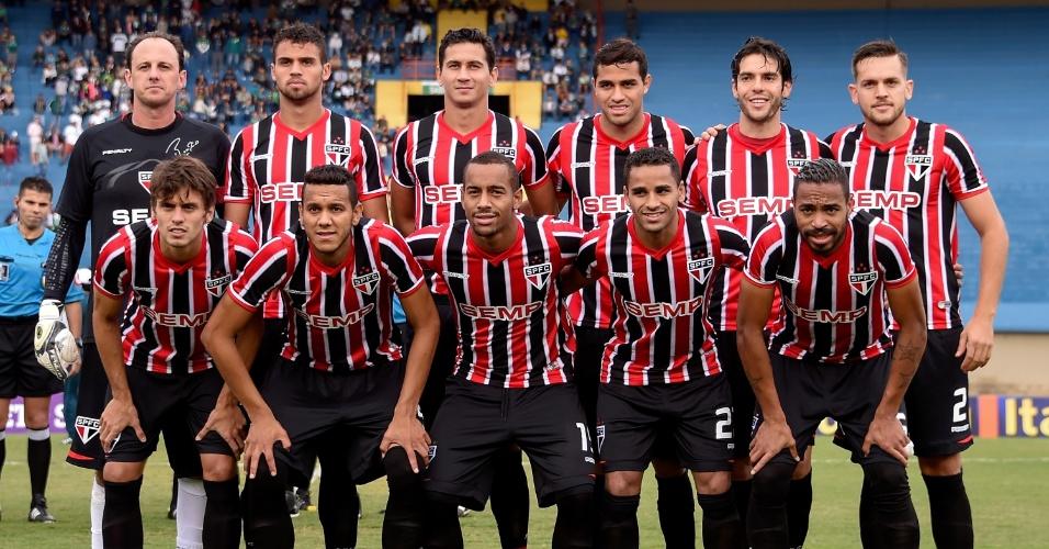 Com Kaká, São Paulo enfrentou o Goiás, no Serra Dourada