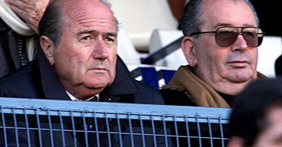 Julio Grondona comandou as finanças da Fifa e teve acesso aos rendimentos do presidente Joseph Blatter