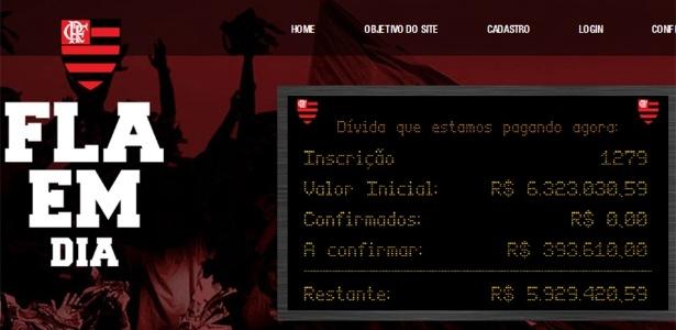 """O projeto """"Fla em Dia"""" é um dos sites criados por torcedores para pagar dívidas"""