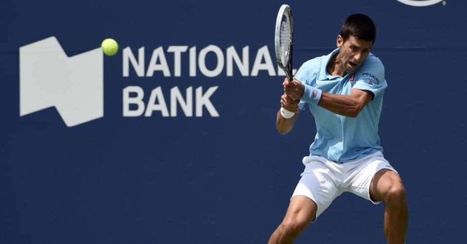Djokovic rebate a bola no duelo com Monfils em Toronto