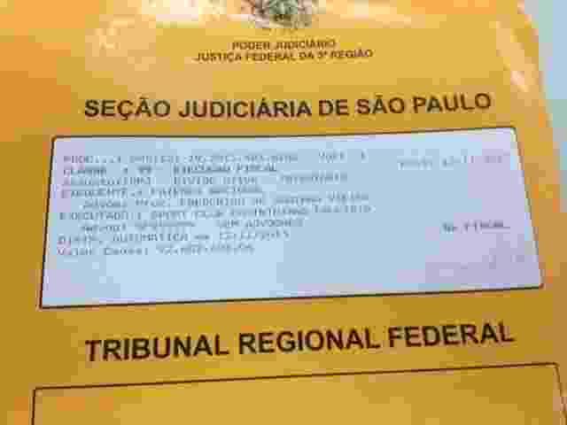 Capa do processo da Procuradoria da Fazenda contra o Corinthians no valor de R$ 94 mi - Rodrigo Mattos/UOL