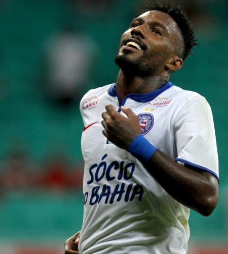 Rhayner lamenta erro durante o duelo de seu Bahia com o Goiás