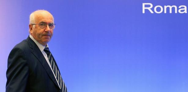 Carlo Tavecchio exaltou a importância da seleção italiana como símbolo do país - ALESSANDRO BIANCHI / REUTERS