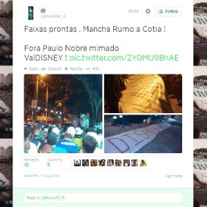 Torcida do Palmeiras protesta contra a diretoria e vai até casa de Paulo  Nobre 6a35a28136e68