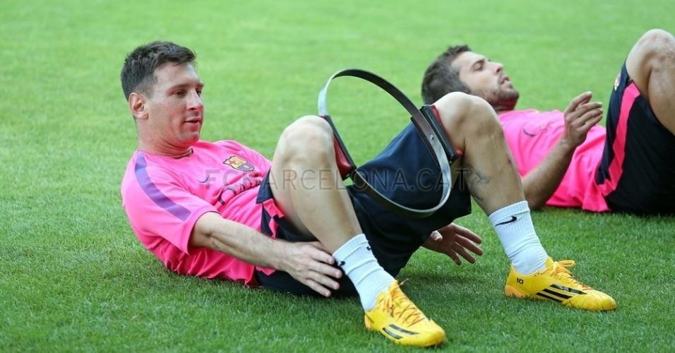 Messi participa de atividades neste começo de temporada europeia (13/08/14)
