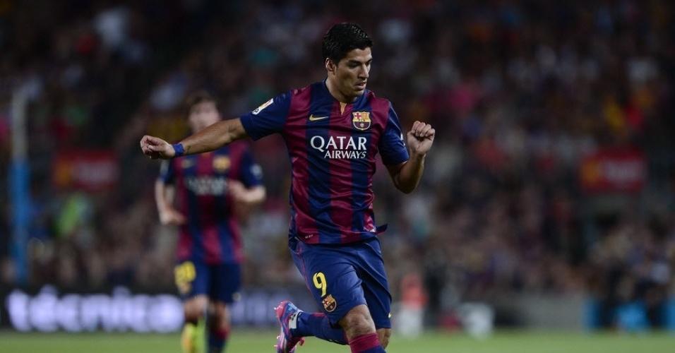 Luis Suárez estreia com a camisa do Barcelona em amistoso contra o León
