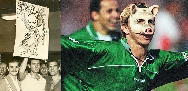O periquito perdeu força como mascote oficial do Palmeiras para o porco, mascote informal - Folhapress