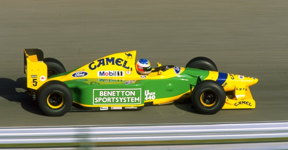 Benetton de Michael Schumacher, no GP de Portugal de 1993