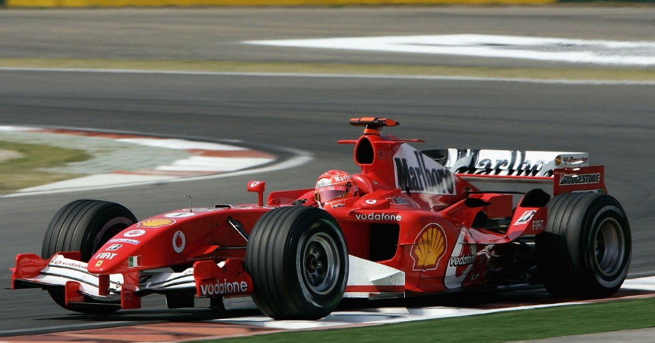 Michael Schumacher, da Ferrari, no GP da China de 2005