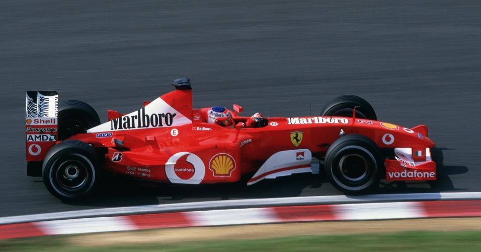 Rubens Barrichello, da Ferrari, no GP do Japão de 2002