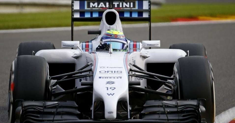 Felipe Massa fez o 15º tempo no primeiro treino livre de sexta-feira, na Bélgica